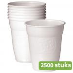 Douwe Egberts Automatenbeker wit 150 ml 2500 stuks