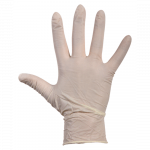 Comfort Handschoen Latex  gepoederd  XL wit