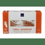 Handschoen Latex m gepoederd wit