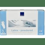 Handschoen Latex Blauw gepoederd L 100 st