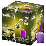 Bolsius | Relight Refill | Paarse kaarsen | Navulling 100 stuks