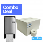 Combodeal | Euro Products & 4UStore | Doproldispenser + Doprol 2-laags | Zilver