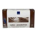 Handschoen latex blauw poedervrij x-large a100