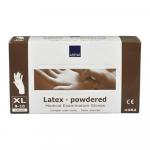 Handschoen latex wit gepoederd x-large a100