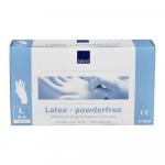 Handschoen latex wit poedervrij large a100