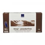 Handschoen vinyl blauw poedervrij x-large a100