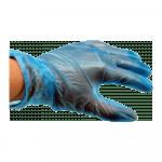 Handschoen Vinyl gepoederd Blauw M
