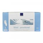 Handschoen vinyl wit gepoederd large a100