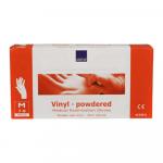 Handschoen vinyl wit gepoederd medium a100