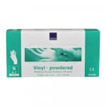 Handschoen vinyl wit gepoederd small a100