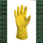 Rubberen Latex huishoudhandschoen L 1 paar geel