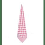 Rood-roze geblokte theedoek 70 x 70 cm 12 stuks