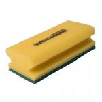 Wecoline | Schuurspons met grip | Geel-groen | 10 stuks