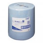Wypall poetsdoeken 1laags blauw 38 x 33 cm