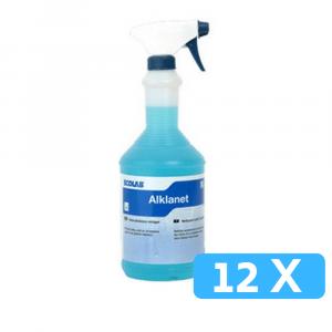 Ecolab Glasreiniger alklanet in sprayflacon 12 x 1 liter