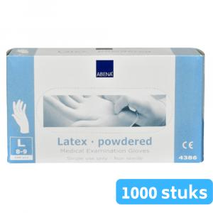 Handschoen Latex Blauw gepoederd L 10 x 100 st