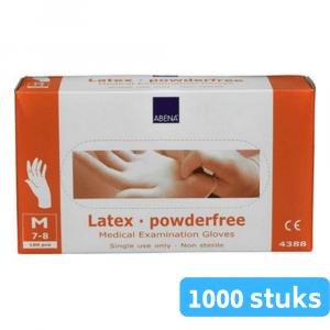 Handschoen latex wit poedervrij medium 10 x 100 stuks