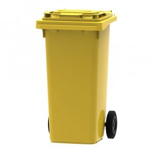 B- stock | Mini rolcontainer | Geel | Inhoud: 120 liter