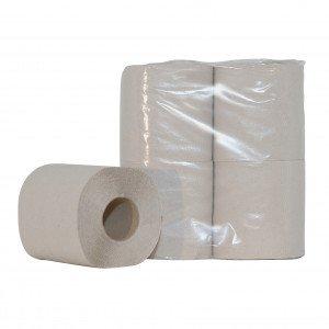 Euro Products | Toiletpapier 1-laags Crèpe Naturel | 10 x 4 rollen
