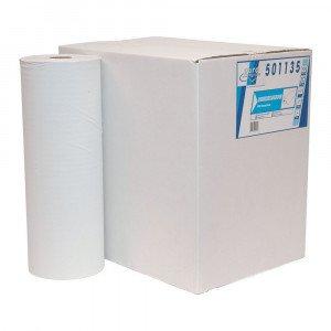 Onderzoekstafelpapier wit 1-lgs 5 x 150 meter 40 cm geperforeerd