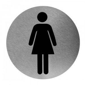 Toiletbordje vrouw RVS