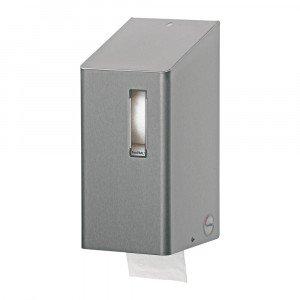 Toiletpapierdispenser voor doprollen RVS Santral