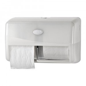 Euro Products Pearl Toiletrolhouder wit