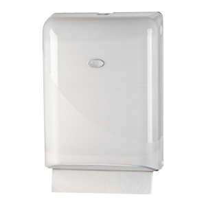 Vouwhanddoekdispenser Z-vouw & interfold wit