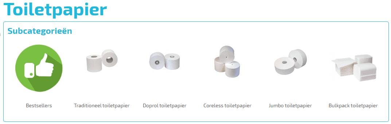 Goedkope WC papier voor in de toilet