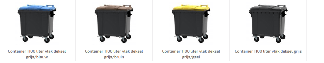 Afvalscheiding containers