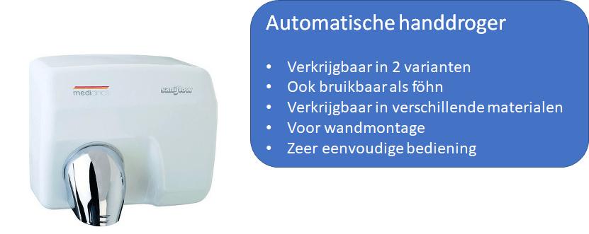 Automatische handendroger voor op het toilet