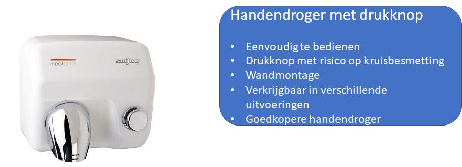 Handendroger met drukknop